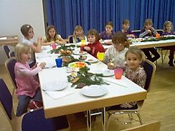 Weihnachtsfeier der Kindervolkstanzgruppe am 10.12.2009
